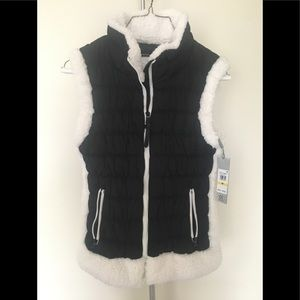Calvin Klein Women's Medium Black Fleece Vest